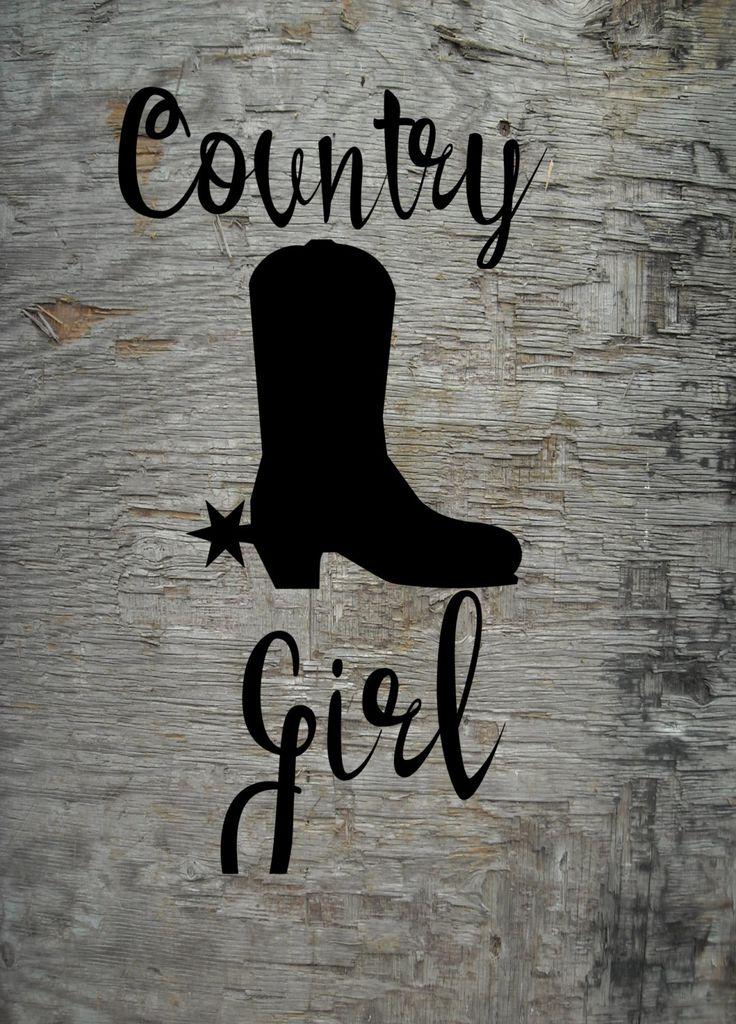 Download Country Girl, SVG file, Silhouette file, Cricut file ...