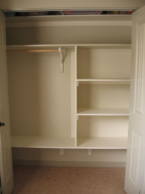 Closet Shelving DIY – I so need to do this to a few of my closets!