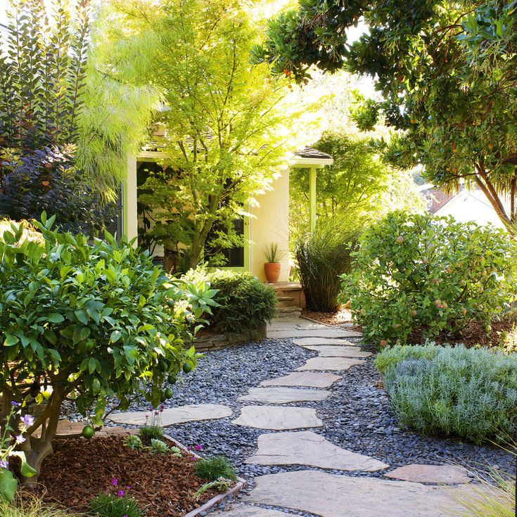 19 best Front yard no grass images on Pinterest on Backyard Ideas Without Grass  id=93173