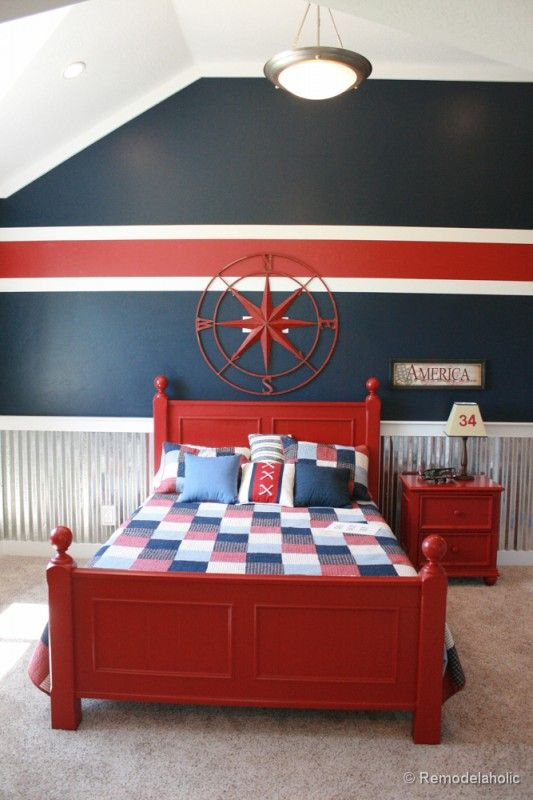 45 Ways To Add Character And Personality A Boy S Bedroom Boys Room Paint Ideasboys
