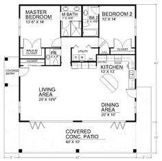 700 Sq Ft 2 Bedroom Floor Plan Open House Plans