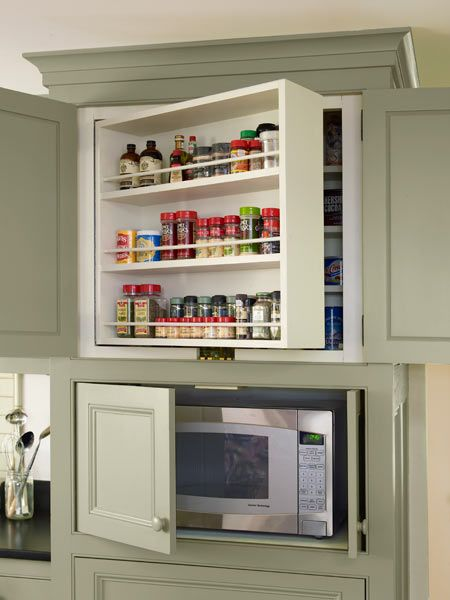 kitchen cabinets with swing out shelves and microwave storage, whole house remod