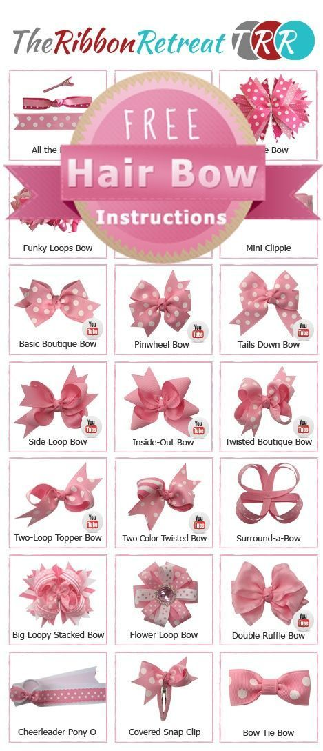 Hair bow tutorials | Do It DarlingCouldnt figure out how to make videos work, but great ideas! | SororityPin