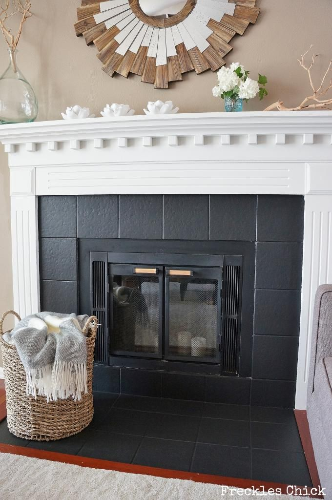 Painting a concrete floor is one way to change the look and feel of a room or spruce up an older, worn concrete floor. Fireplace tile (mini) facelift with Paint #