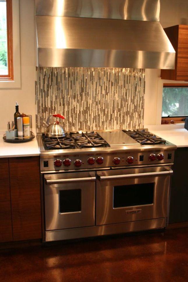 Backsplash With Vertically Installed Tile Tile For