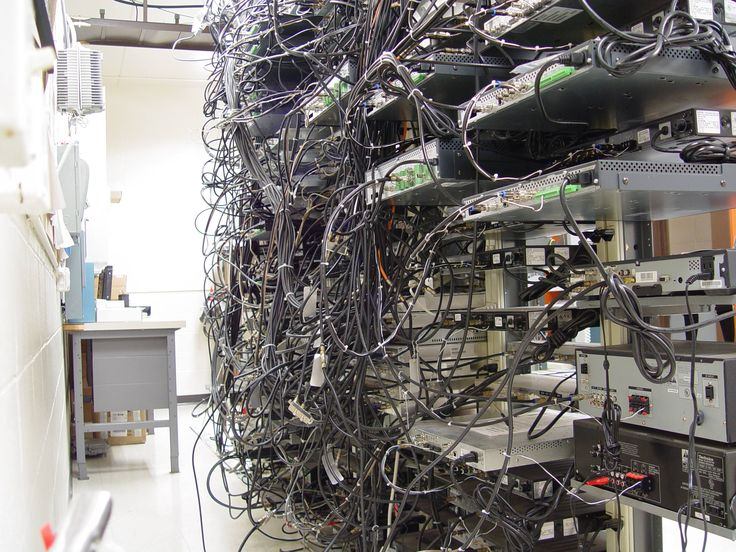 13 Best Images About Messy Cable Closets & Server Rooms On