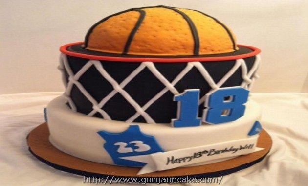 Teenage Boys Cake Football Design Birthday