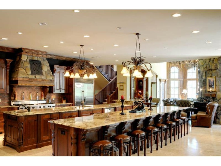 Marble Double Island Kitchen For The Home Pinterest