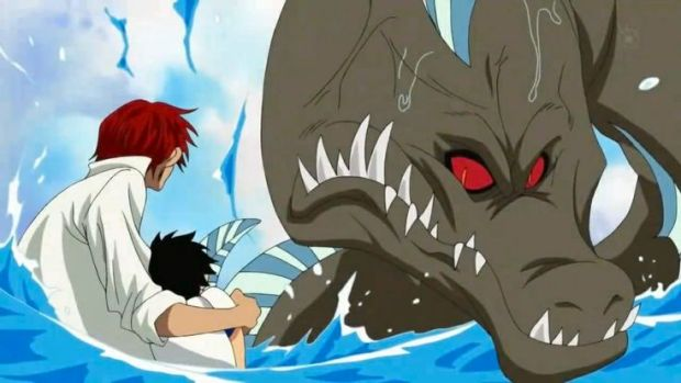 Image result for shanks saves luffy