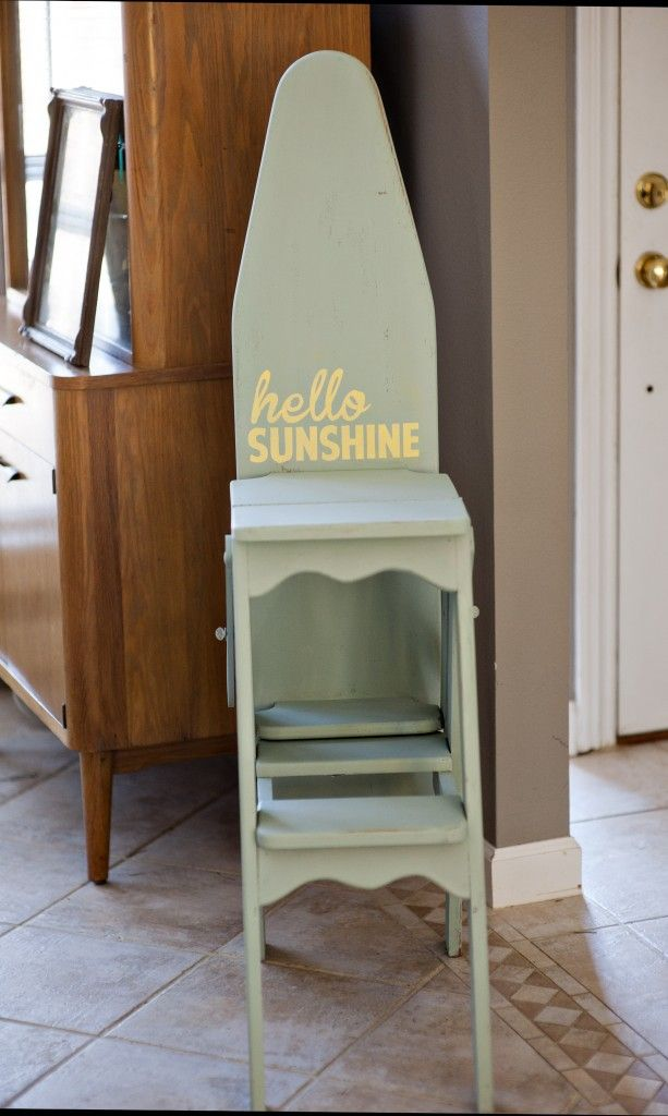 Vintage Wood Ironing Boardchairstool Thrifting