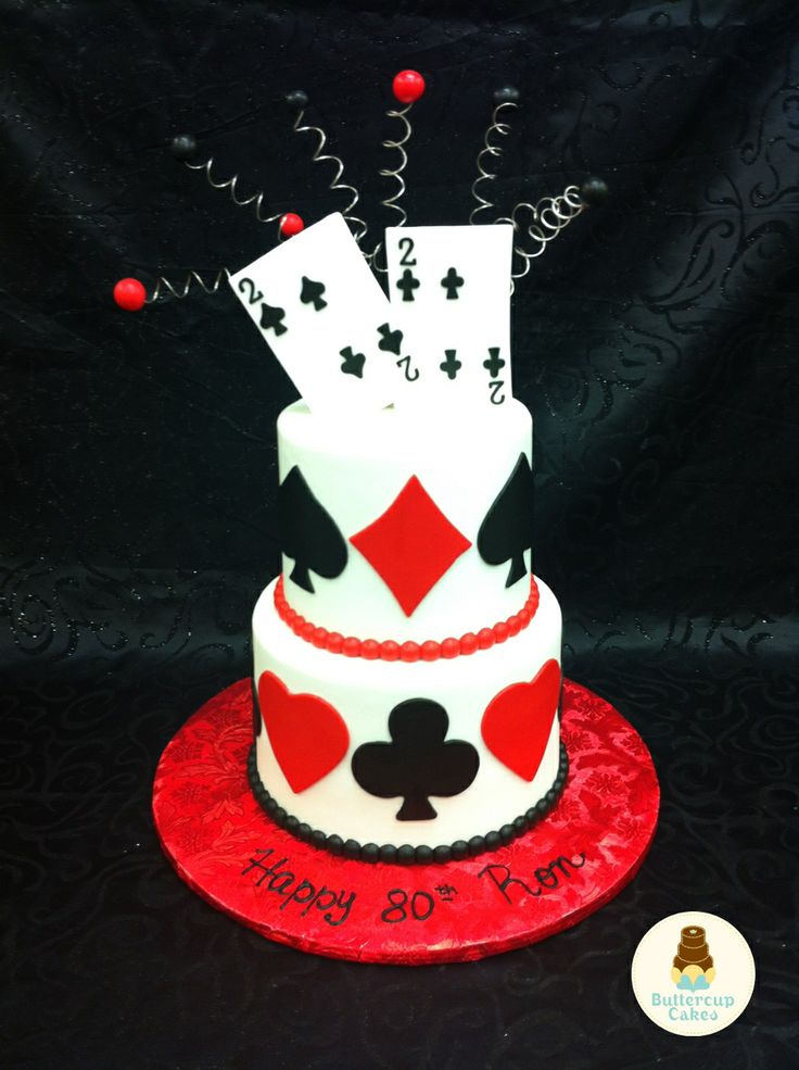 Playing Card Birthday Cake Birthday Cakes Pinterest