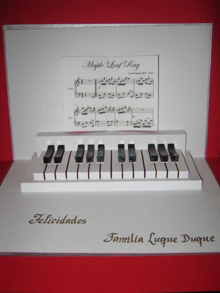 KIRIGAMI PIANO Seni Kirigami Pinterest Piano And