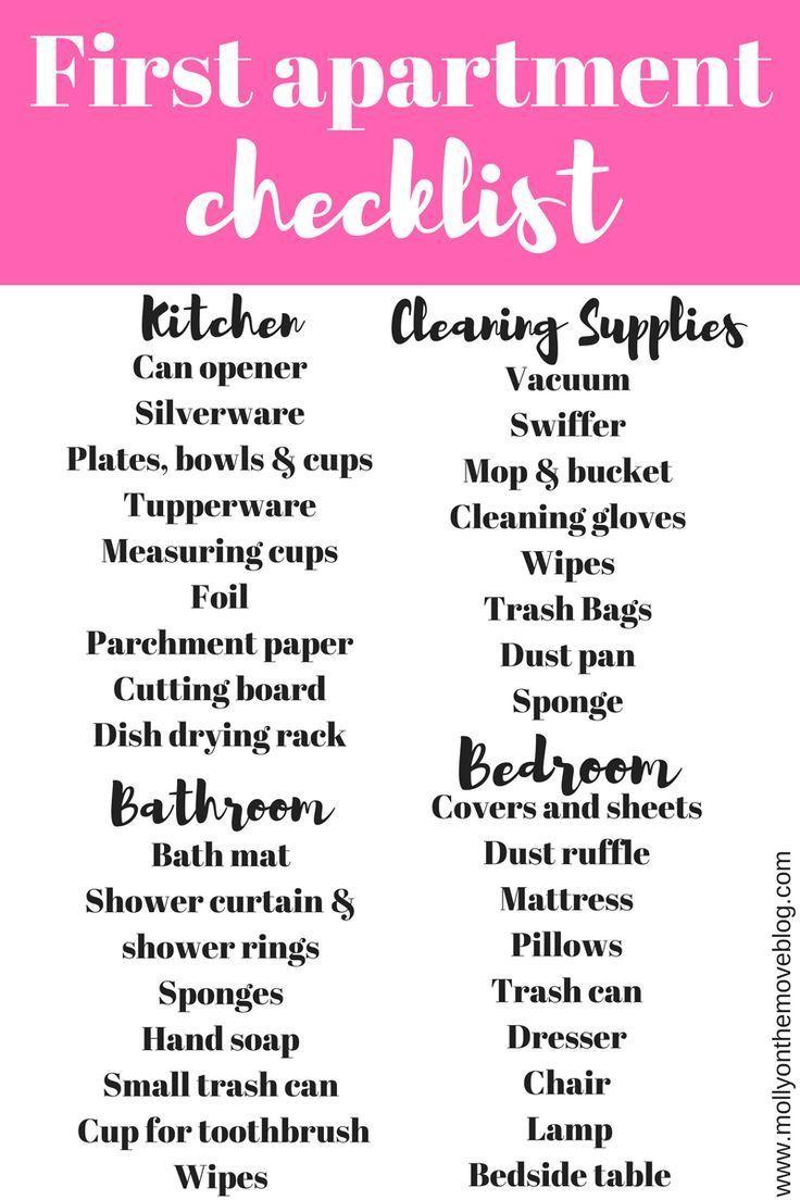 Kitchen Necessities Checklist