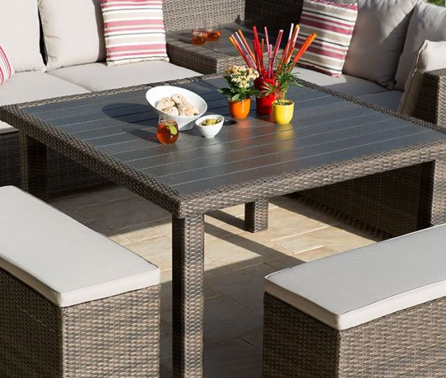Enjoy Relaxing On Our Havana Lounge Corner Table Set Perfect For Either Your Terrace Or