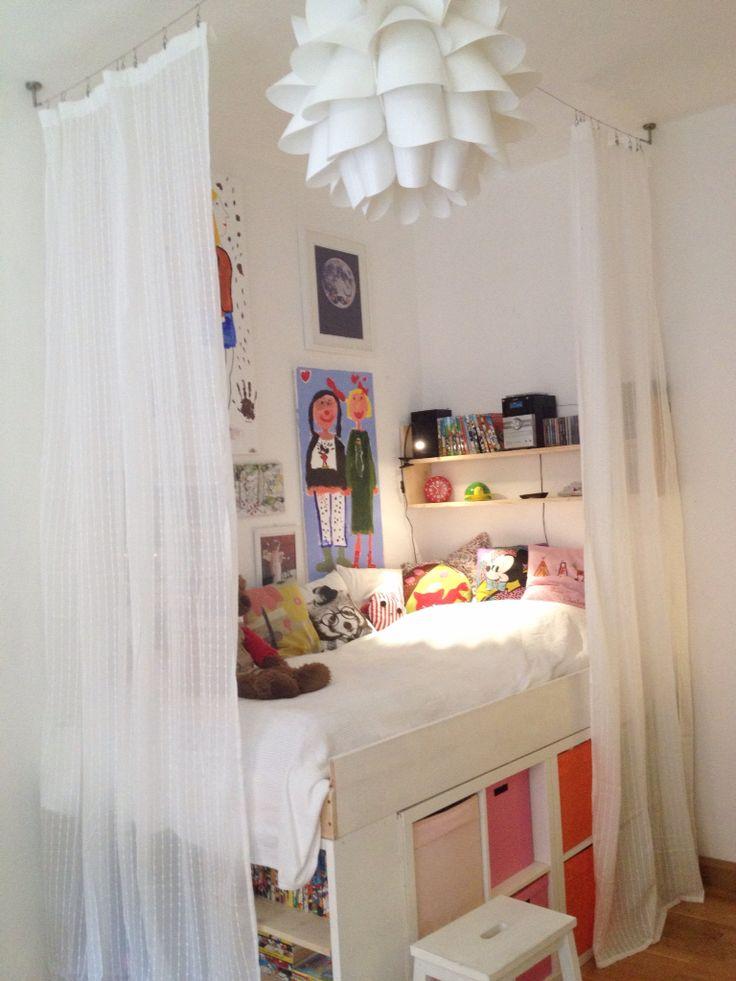 Storage Bed Kallax Expedit Girls Room Kids Room Diy