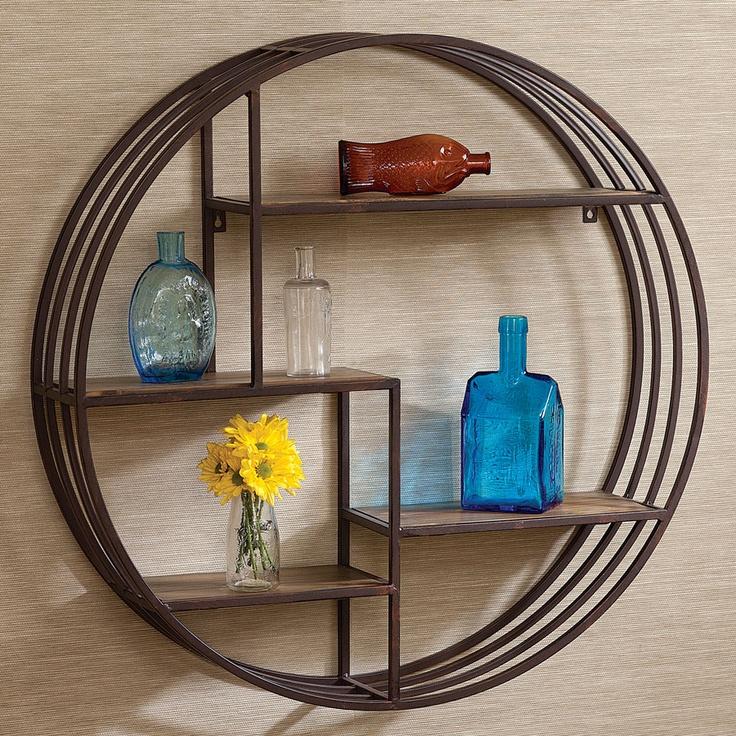 round wall shelf acacia mid century modern pinterest on wall shelf id=77813