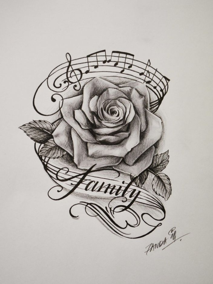 Image Result For Rose And Music Tattoo Tattoos