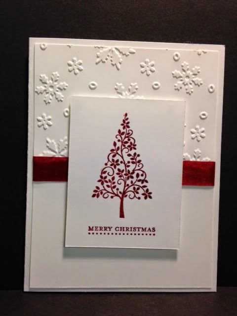 Festival Of Trees Christmas Card Stampin Up Rubber