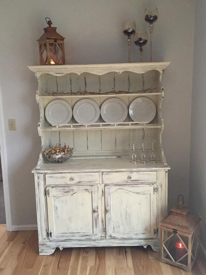Vintage Ethan Allen Hutch Painted With Annie Sloan Old