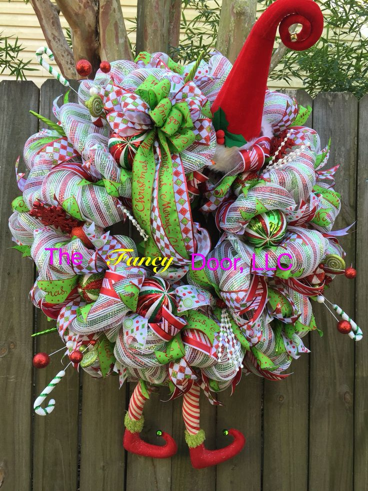 XL Elf Wreath Trendy Tree Custom Designer Creations