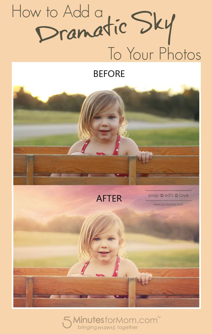 How to Add a Dramatic Sky to your Photos #Tutorial
