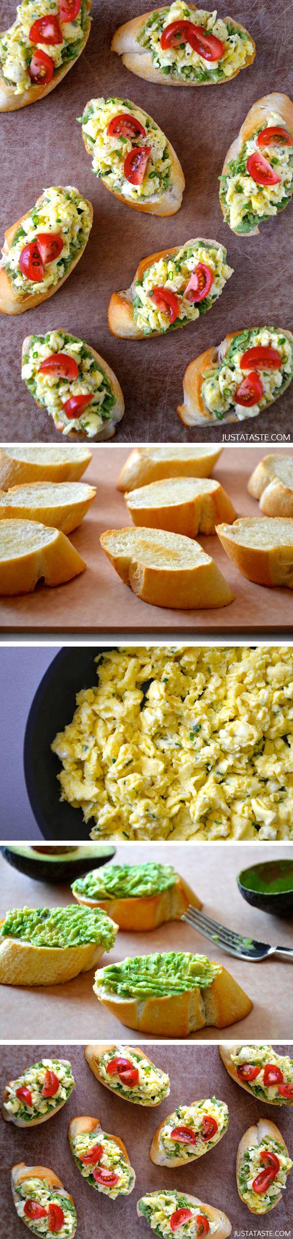 Quick and Easy Breakfast Bruschetta by justataste #Breakfast#Bruschetta