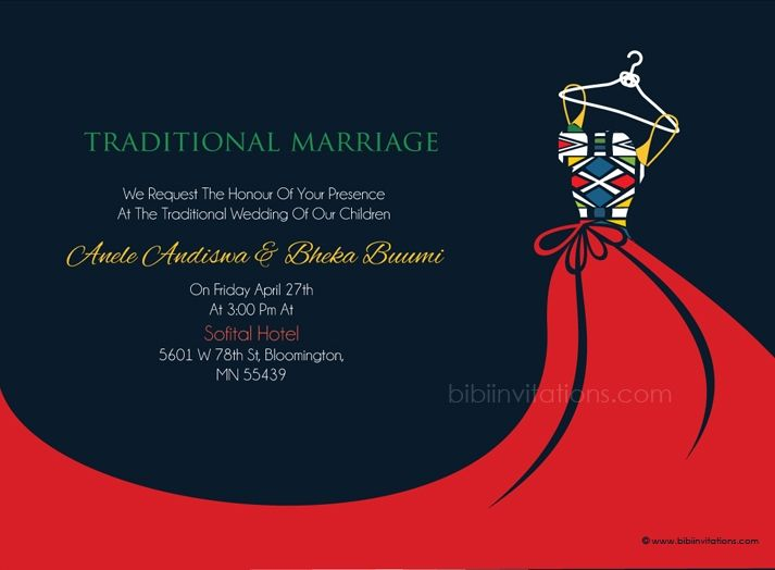 Xhosa Wedding Invitation Cards