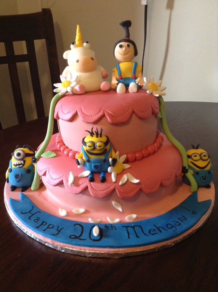 36 Best Images About Despicable Me Cakes On Pinterest