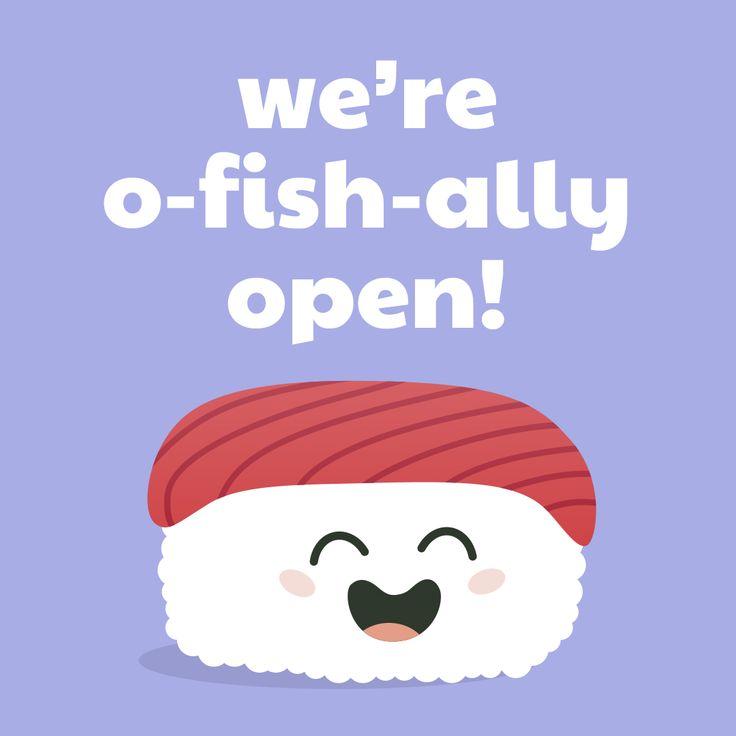 Sushi Mojis Cute Tuna Nigiri Were O Fish Ally Open