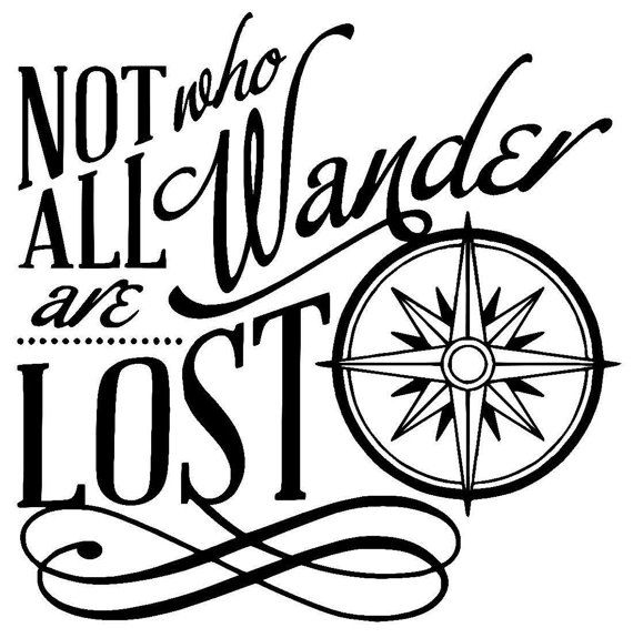 Download Not all who Wander are Lost Wall or Window by ...