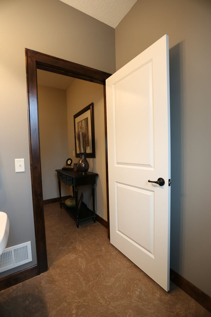 Interior Doors 2 Panel White Molded Door With Dark