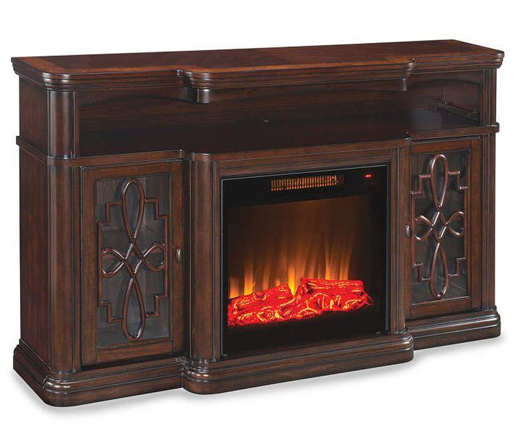 60 Walnut Finish Electric Fireplace At Big Lots My