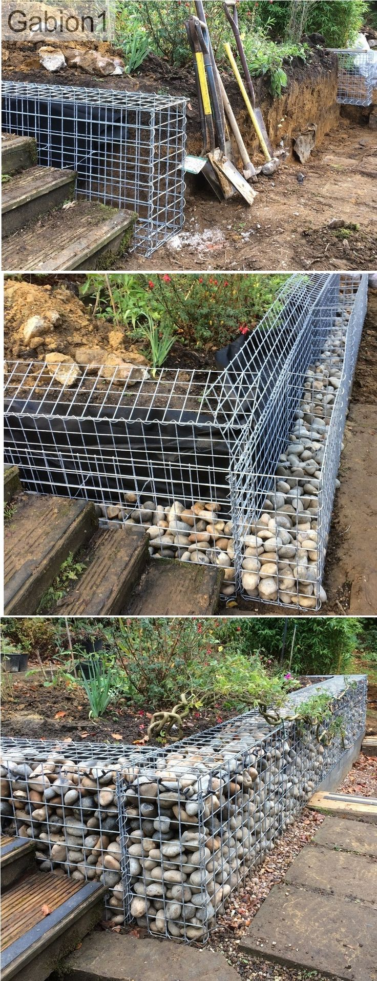 1093 best images about gabion ideas on pinterest on stone wall id=13701
