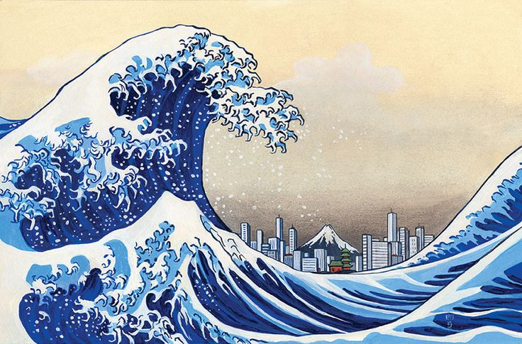 modern take on hokusai s great wave made by jt morrow for on wall street journal login id=94227