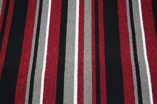 Details About Red Black Stripe Carpet Quality Berber Any