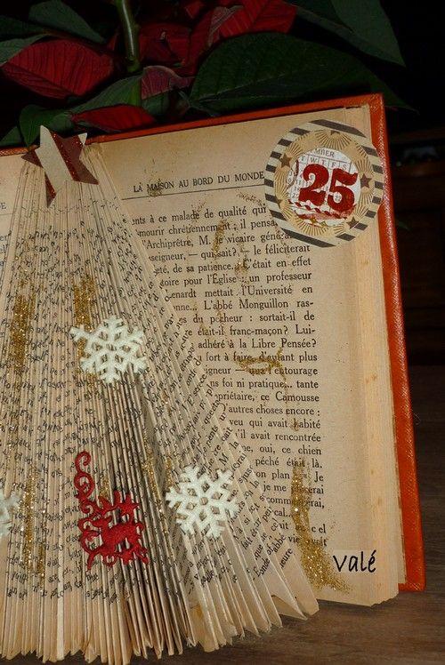 Pliage Sapin Dans Un Livre Book Christmas Tree Tutorial