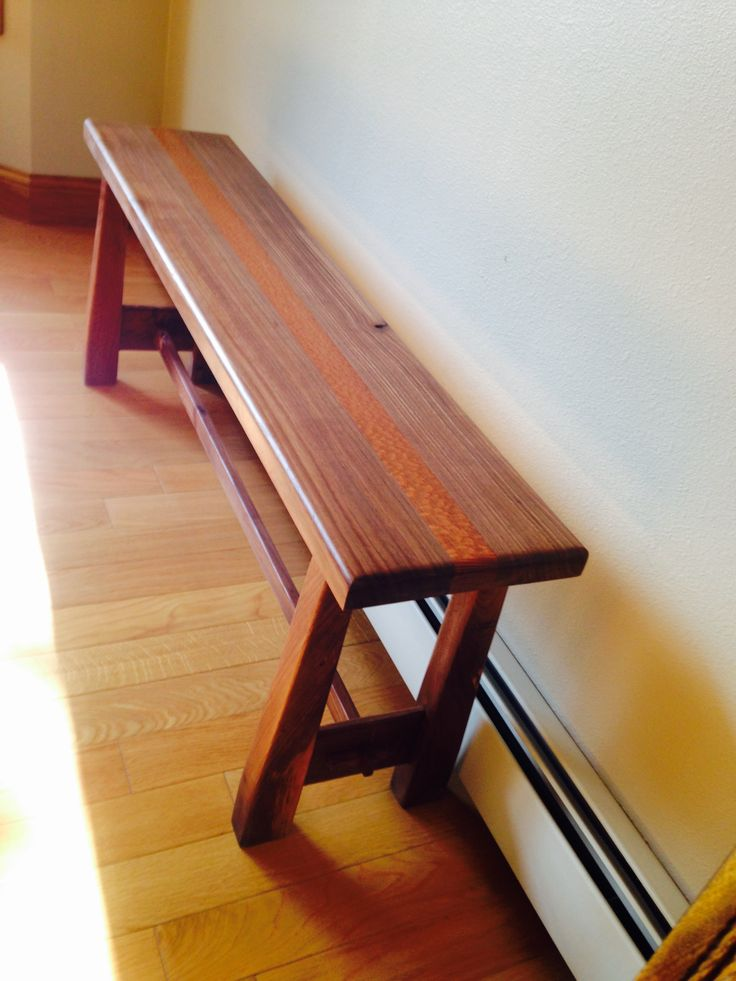 I Made This Bench Out Of Brazilian Cherry And Lacewood