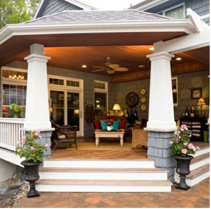 Back porch!   My future humble abode..   Pinterest on Covered Back Porch Ideas id=12559