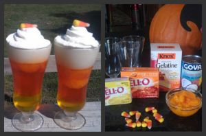 Candy Corn Jello Dessert Cups. I made these with my 4 yr old re looking for kids
