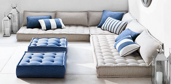 Perennials® TUFTED French Floor OUTDOOR Cushions