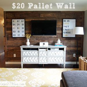 if only i could hammer pieces of distressed wood into my rented space. le
