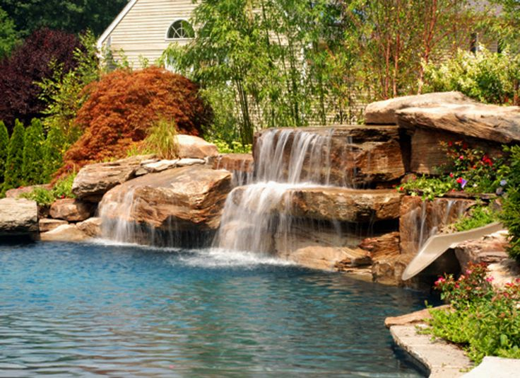 10+ images about Swimming Pool Design Ideas on Pinterest ... on Rock Garden Waterfall Ideas id=94786