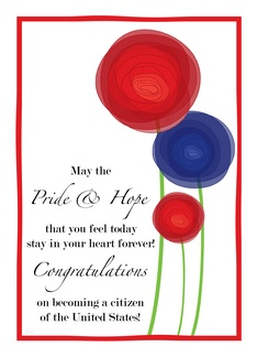 US American Citizen Citizenship Congratulations Flowers