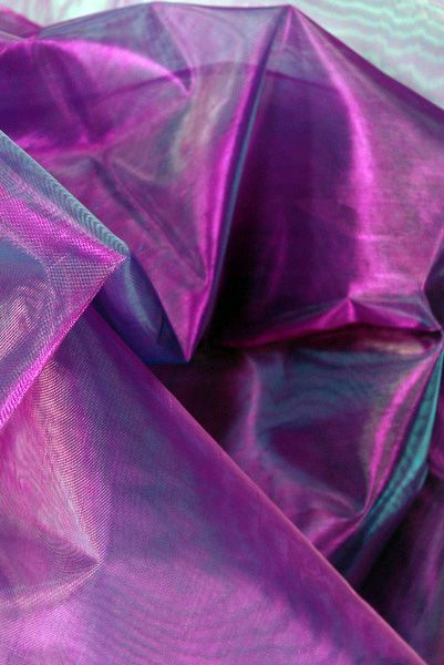 Sheer Iridescent Fabric Purple Violet Amp Blue Organza 28 Width 3 Yds 599 Each 3 For 5