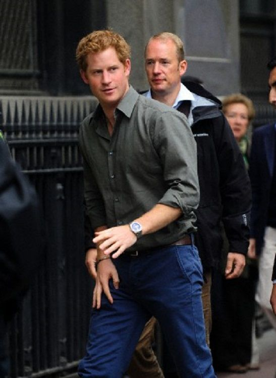 Prince Harry is showed his charisma and charm as he ...