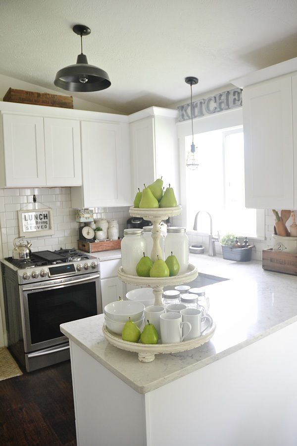 Light Amp Bright Kitchen Shabby Three Tiered Stand Styled