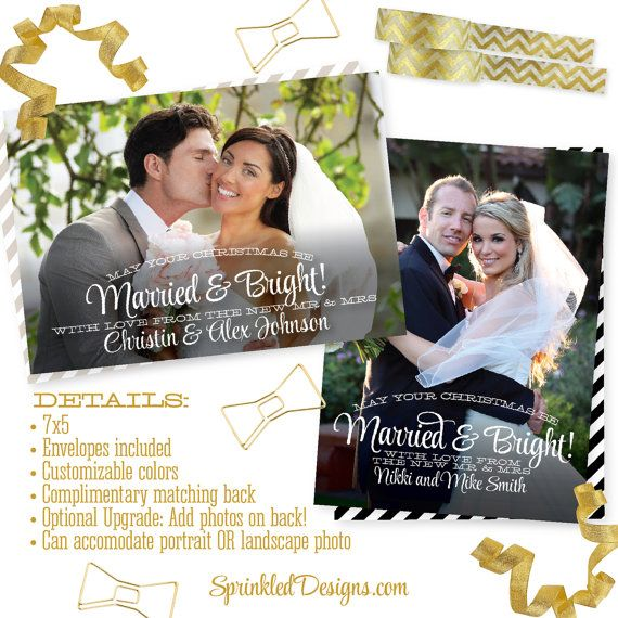 17 Best Ideas About Newlywed Christmas Card On Pinterest
