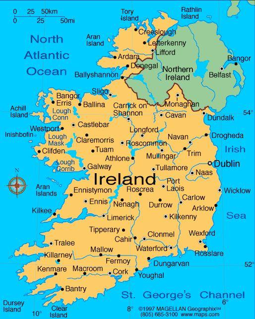 Best 25+ Ireland map ideas on Pinterest