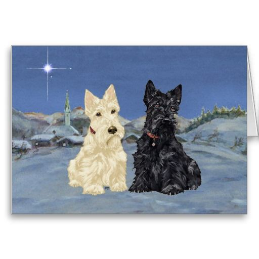 20 Curated Scottish Terrier Christmas Cards Ideas By