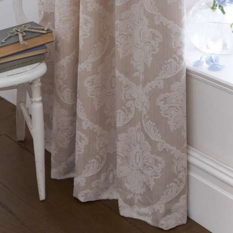 Dorma Natural Aveline Lined Pencil Pleat Curtains On